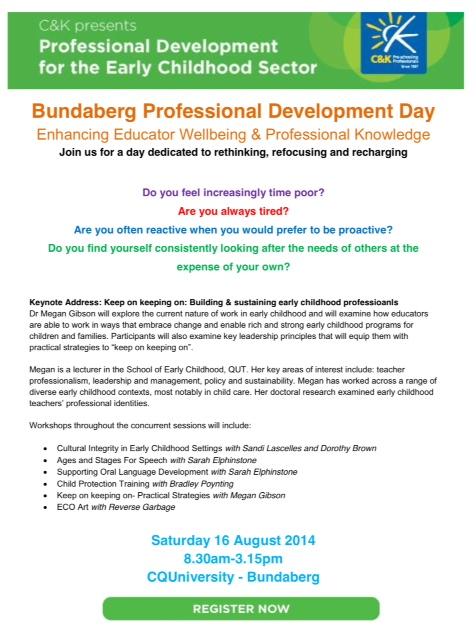 speech pathology at Bundaberg PD event