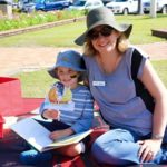 Helping out at the Paint Bundaberg Read event in Buss Park, Bundaberg. August 2016